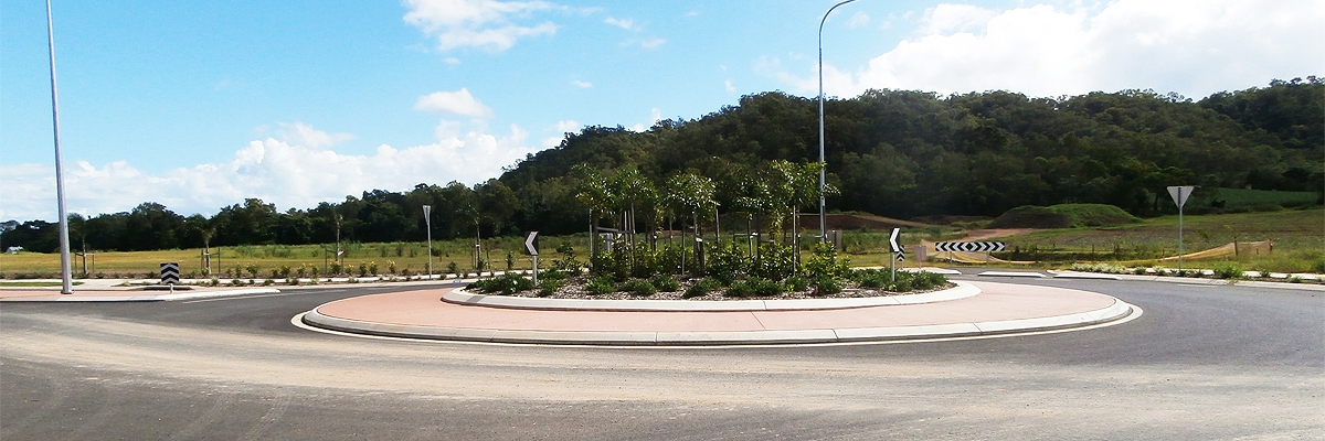 Far North Qld Roundabout Construction